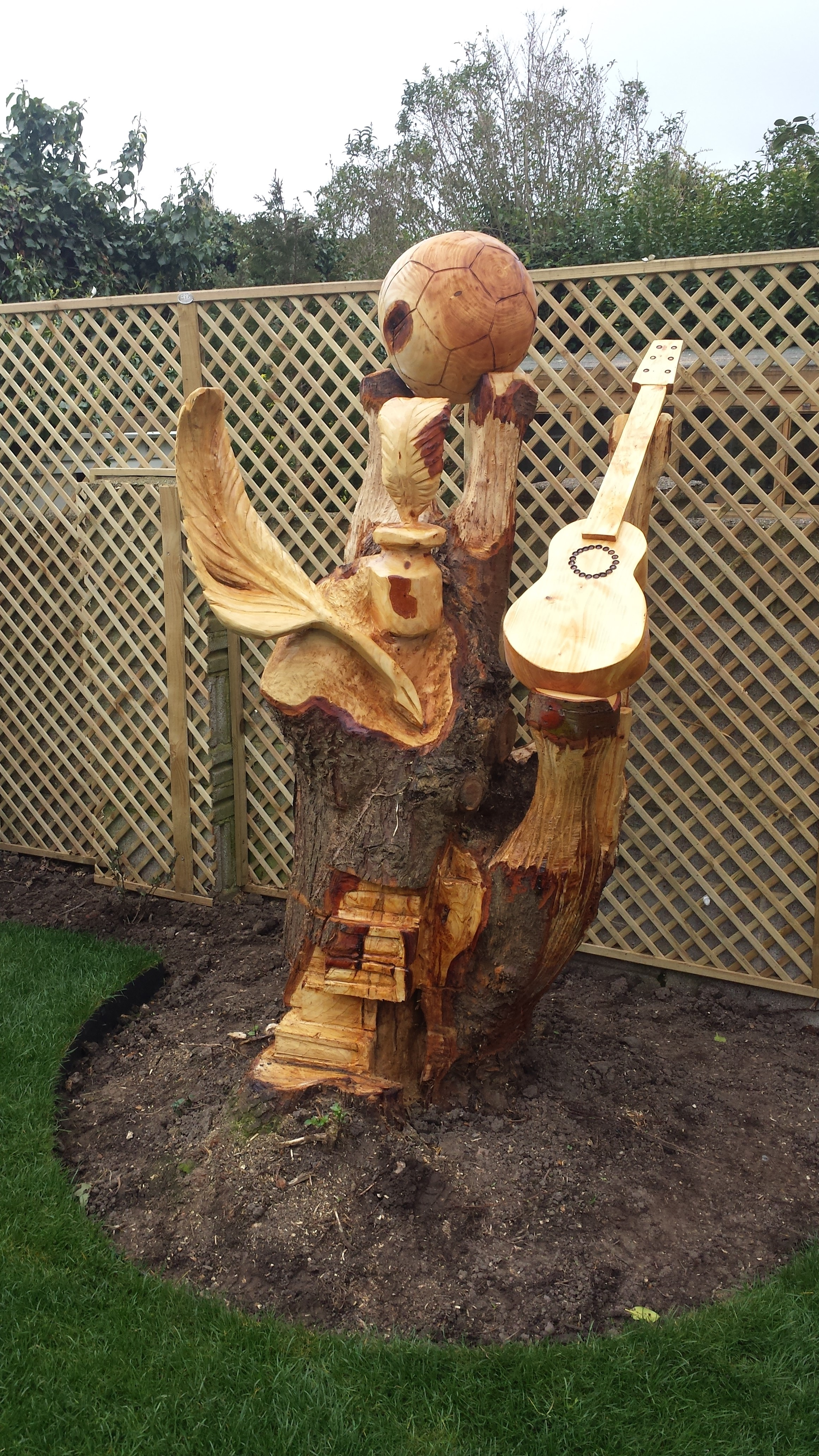 Eagle chainsaw carving youtube